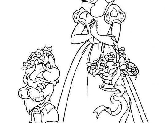 Dibujo Al enanito gruñón no le gustan las flores