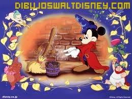 Dibujo Mickey en Fantasía