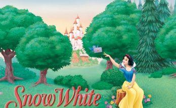 Dibujo Blancanieves recibe una carta