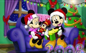 Dibujo Regalos de Navidad para Mickey y Minnie