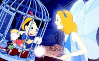 Dibujo Pinocho ayudado por su madre