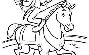 Dibujo Goofy en el circo