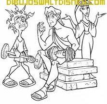 Dibujo Hercules y sus amigos