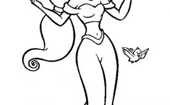 Dibujo Jasmine y los pajarillos