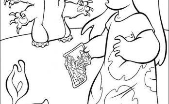 Dibujo Lilo & Stich son grandes amigos