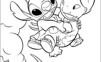 Dibujo Stitch coge a Lilo