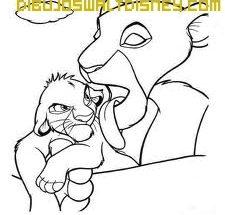 Dibujo Simba y su madre