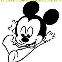 Dibujo Mickey bebe