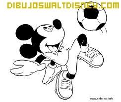 Dibujo Mickey futbolista
