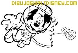 Dibujo Mickey de astronauta