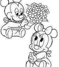 Dibujo Mickey y Minnie