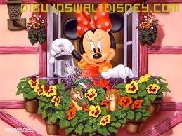 Dibujo Minnie con flores