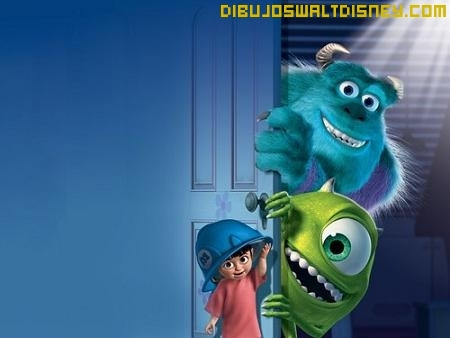 Dibujo Mike y Sully