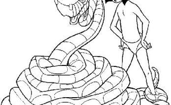 Dibujo ¿La serpiente ha cazado a Mowgli?