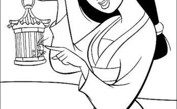 Dibujo Mulán es una hermosa joven
