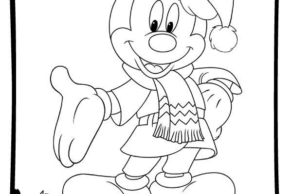 Dibujos Dibujos De Navidad.Navidad Disney Para Colorear Dibujos Disney