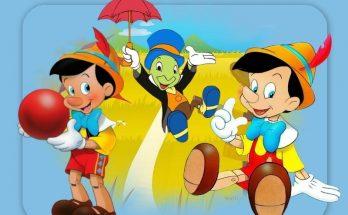 Dibujo Pepito Grillo y Pinocho