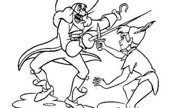 Dibujo Peter Pan en acción
