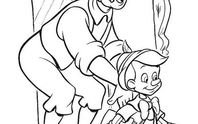 Dibujo Pinocho va a la escuela