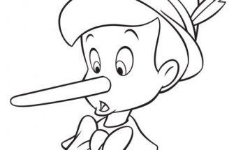 Dibujo A Pinocho le crece la nariz