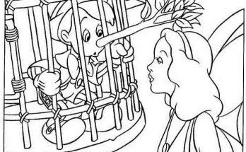 Dibujo Geppeto y Pinocho
