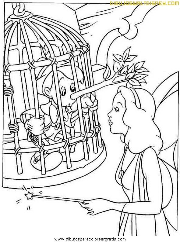 Pinocho Y Su Hada Madrina Dibujos Disney