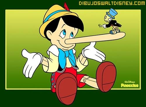 Dibujo Pinocho y Pepito grillo