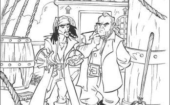 Dibujo Jack sparrow en su nuevo barco