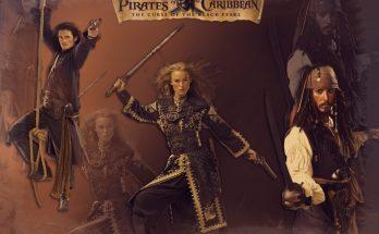 Dibujo Protagonistas Piratas del Caribe