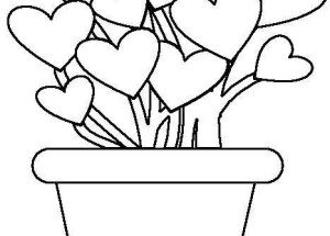 Dibujo Planta de corazones
