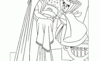 Dibujo La princesa Aurora de bebé
