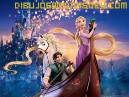 Dibujo Flynn y Rapunzel