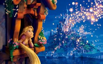 Dibujo Rapunzel en la torre