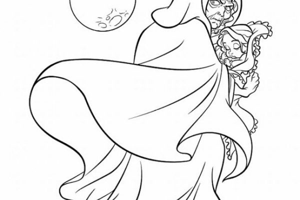 Dibujo El rapto de Rapunzel