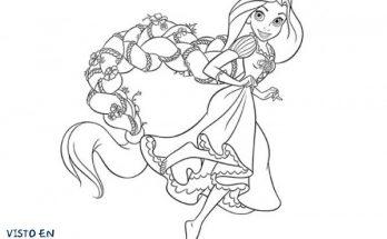 Dibujo Rapunzel con una preciosa trenza