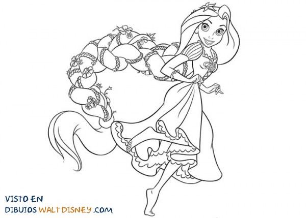 Rapunzel Con Una Preciosa Trenza Dibujos Disney