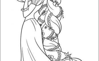 Dibujo Rapunzel con la rana