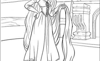 Dibujo Rapunzel recogiendo su cabello