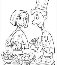 Dibujo Ratatouille con el cucharon