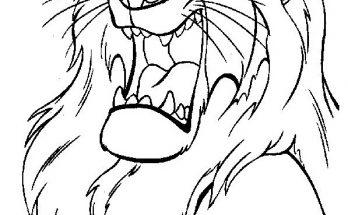 Dibujo Rey León de Disney