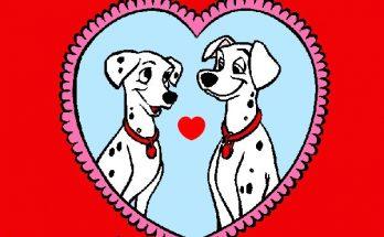 Dibujo San Valentin para 101 dalmatas