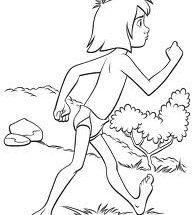 Dibujo Mowgli andando