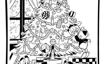 Dibujo Sobrinos del tío Gilito en Navidad