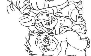 Dibujo El pequeño Tarzan está feliz