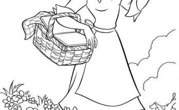 Dibujo Tiana disfruta del bosque