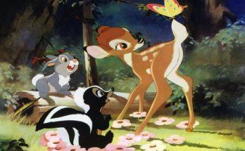 Dibujo Bambi con sus amigos