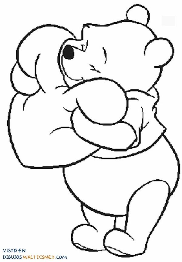 Winnie The Pooh Abraza Un Corazón Dibujos Disney