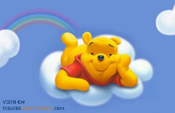 Dibujo Winnie the Pooh en el cielo