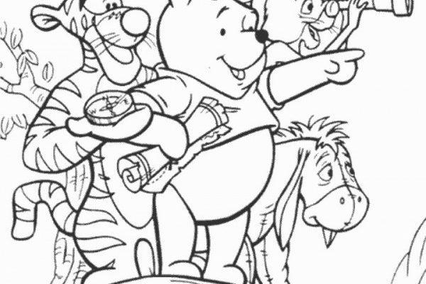 Dibujo Winnie The Pooh explorador