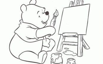 Dibujo Winnie pintor